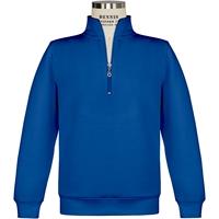 Royal Quarter Zip Sweatshirt with School Logo