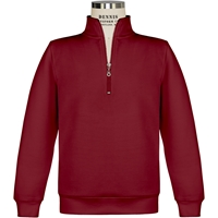 Cardinal Quarter Zip Sweatshirt with School logo