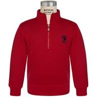 Red Quarter Zip Sweatshirt with Primrose logo
