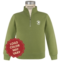 Primrose Green Quarter Zip Pullover Sweatshirt with Primrose logo