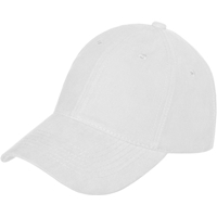 White Baseball Cap with School Logo