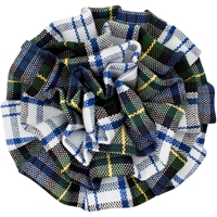 Belmont Plaid Rosette Barrette