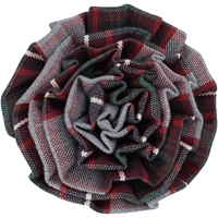 Chandler Plaid Rosette Barrette
