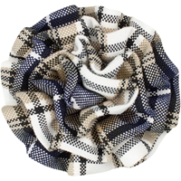 Langley Plaid Rosette Barrette