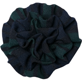 Blackwatch Plaid Rosette Barrette