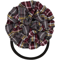 MM Plaid Rosette Hair Elastic