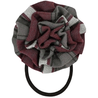 James Plaid Rosette Hair Elastic