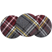 MM Plaid Button Barette