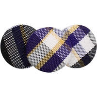 Arlington Plaid Button Barette