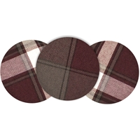 James Plaid Button Barette
