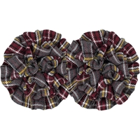 MM Plaid Rosette Barrette