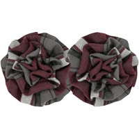 James Plaid Rosette Barrette