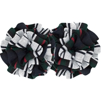 Lloyd Plaid Rosette Barrette