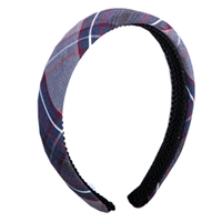 Dunbar Plaid Padded Headband