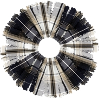 Langley Plaid Pom Pom Scrunchy