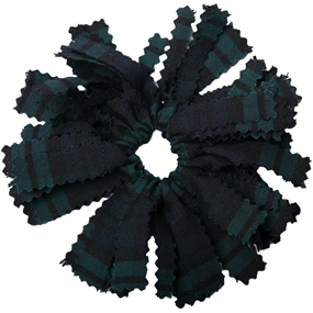 Blackwatch Plaid Pom Pom Scrunchy