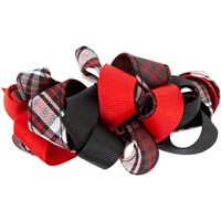 Charleston Plaid Ribbon Barrette