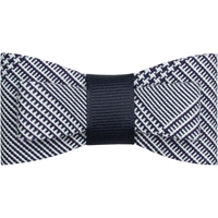 Navy/White Shadow Plaid Flat Hairbow