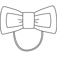 MM Plaid Flat Bow With Elastic