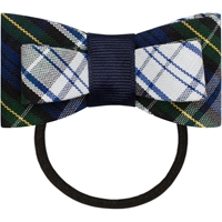 Belmont Plaid Flat Bow With Elastic