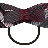 James Plaid Flat Bow With Elastic