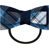 RR Plaid Flat Bow With Elastic