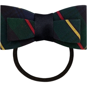 Belair Plaid Flat Bow With Elastic