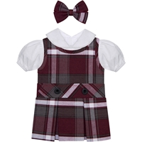 Bordeaux Plaid Doll Outfit