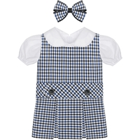 Blue/Black/White Check Doll Outfit