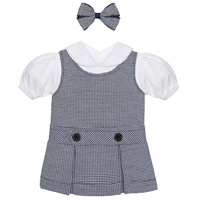 Navy & White Houndstooth Doll Outfit