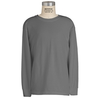 Sports Grey 100% Cotton T-Shirt with School Logo