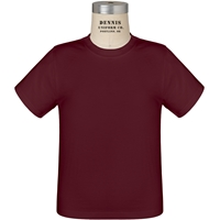 Maroon 100% Cotton T-Shirt with School Logo