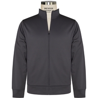 Dk Smoke Grey-Sport-Wick Fleece Full Zip Jacket  with School logo