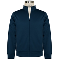 Navy-Sport-Wick Fleece Full Zip Jacket with School logo