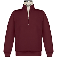 Maroon Quarter Zip Sweatshirt with School Logo