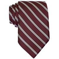 Burgundy w/white/ black stripes Neck Tie