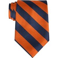 Navy w/ Orange Stripe Neck Tie