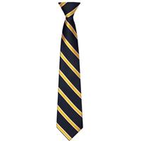 Navy with Gold/White Stripe Neck Tie