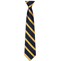 Navy with Gold/White Stripe Neck Tie