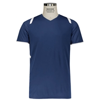 Navy and White Millennium Soccer Jersey with School logo