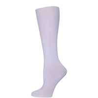 White Fem Fit Opaque Knee-High Socks - 3 Pack