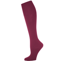 Burgundy 3 Pk Opaque Knee-Hi Sock