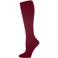 Burgundy 3 Pk Cable Knit Knee-Hi Sock
