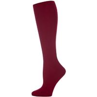 Burgundy Fem Fit Cable Knit Knee-High Socks - 3Pack