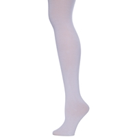 White Girls Opaque Knit Tights