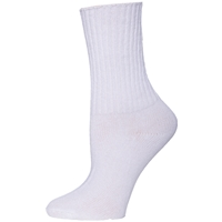 White 3 Pair Pack Ribbed Crew Socks