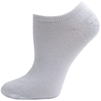 White Unisex No Show Athletic Socks
