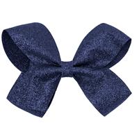 Navy Glitter Hairbow