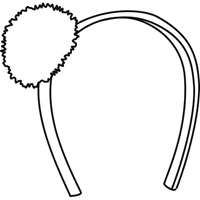 Headband with Fur Pom Pom-Maroon and White Shadow plaid
