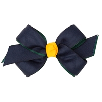 Navy/Green/Gold Hairbow
